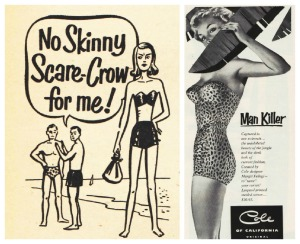 Cole Swimsuit Ad 1953 And we wanted those curves!