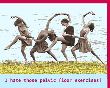 Pelvic Floor Exercises on Beach