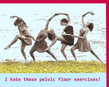 Pelvic Floor Exercises on Beach