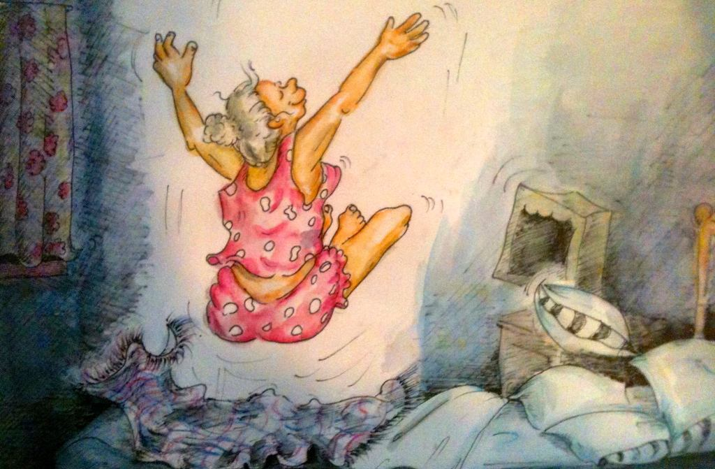 Illustration by Honey Clarke from her book 'My grandma is a Wild Thing'.