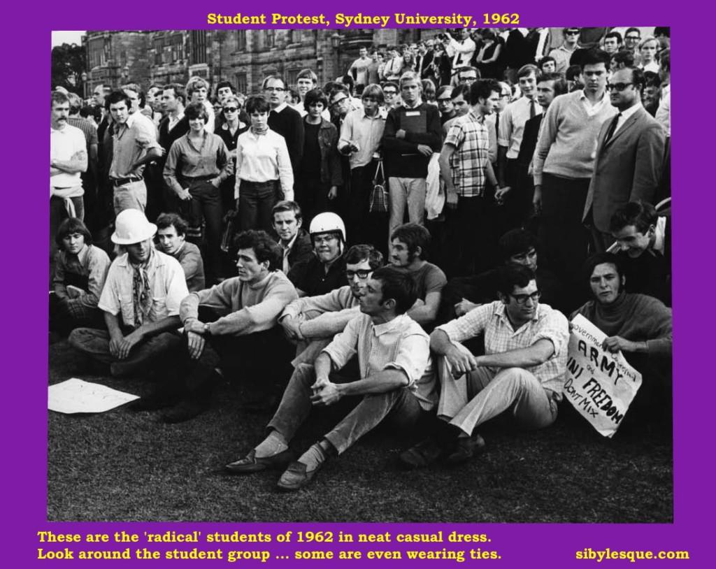 student protest Sydney Uni 1962