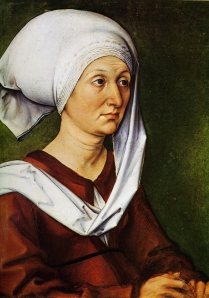 Durer's Portrait of His mother,1490. She was 39 years old.