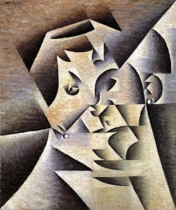 Juan Gris, mother,  1912. At least Picasso painted his mother before Cubism etc.