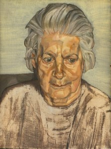 Lucian Freud, The Painters Mother,1983 .  Lucie was 77 years old.