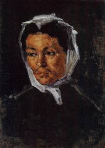 Paul Cezanne The Artist's Mother c. 1866  when his mother was  52 years old.