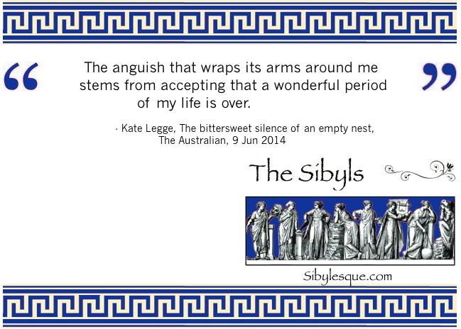 Sibylesque Empty Nest Quote