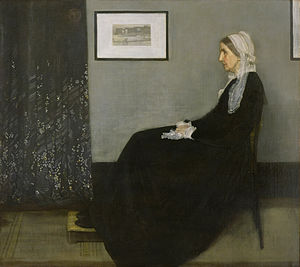 Whistlers Mother,  1871. Painted when she was  67 ld.years o
