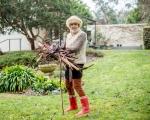Helen in her garden