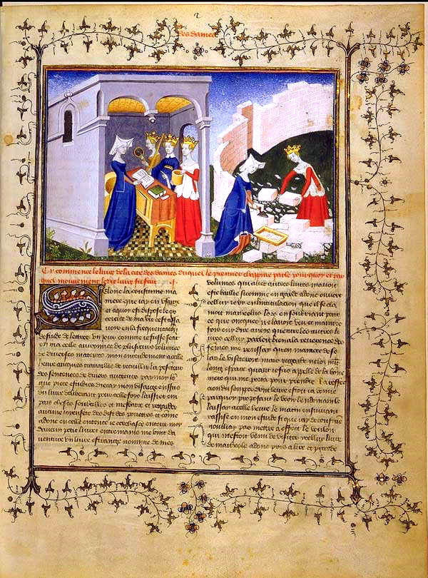 City of Women by Christine de Pizan. She supervised the production of the illustrated manuscript.