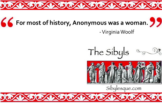 Sibylesque Virginia Woolf Quote