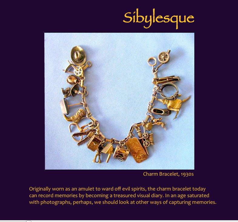 Sibylesque charm bracelet