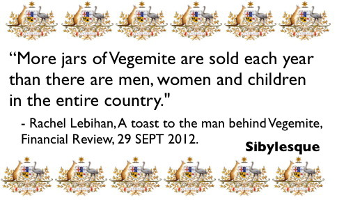 Sibylesque vegemite quote