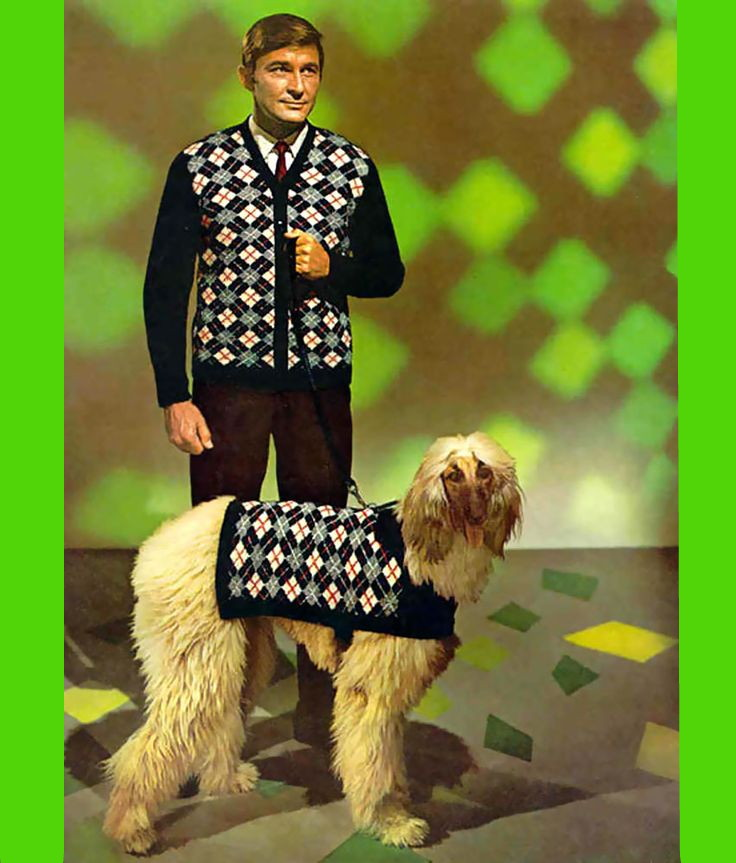 Sibylesque man vest and dog