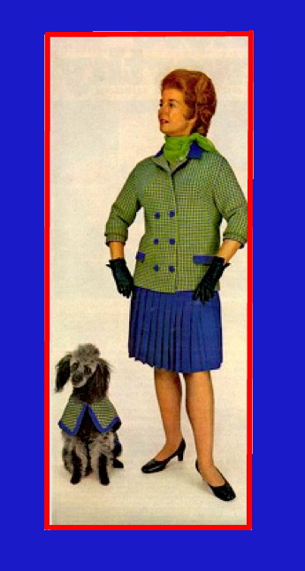 Sibylesque Woman and dog check jacket